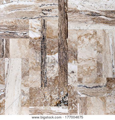 Onyx Travertine Square Mosaic Tile Texture for design