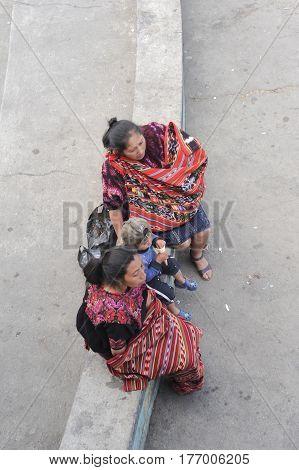 Chichicastenango, Guatemala - 4 February 2014: Maya woman at Chichicastenango on Guatemala