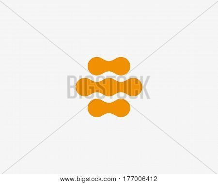 Abstract hive vector logo design template. Honey fruit fresh logotype