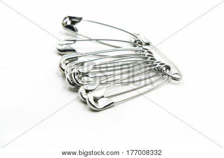 Metal Pin On White Background