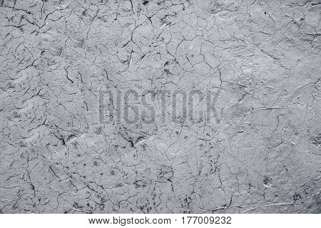 Monotone shade image of soil wall with crack texture
