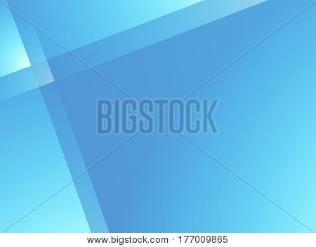 Vivid blue glassy fractal background with crossing lines pattern. Text space.