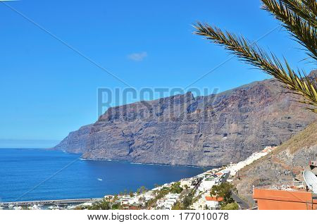 Beautiful coastal view of Los Gigantes Tenerife Canarias Islands Spain.