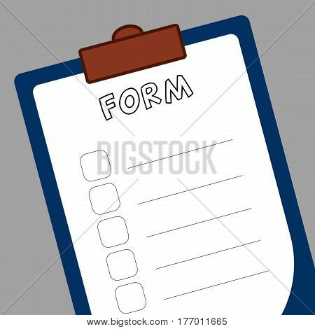 Form to-do list a tablet of white paper to make notes.