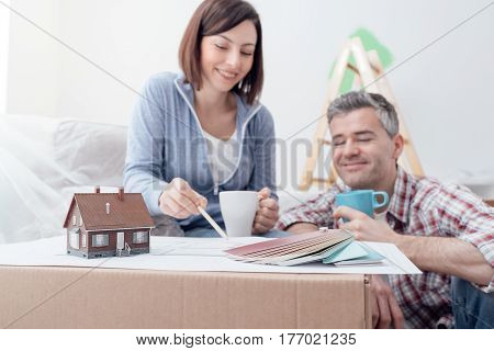 Couple Designing Their Deam House