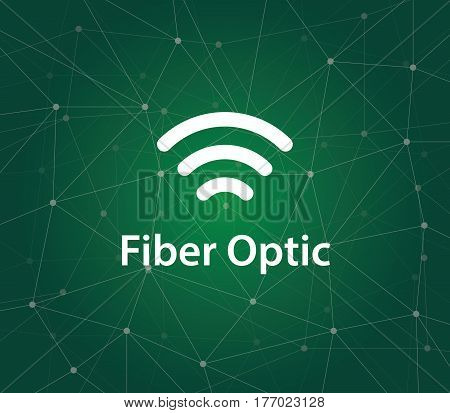 illustration symbol for fiber optic or optical fiber that can transmitting information from one place to another by sending pulses of light vector