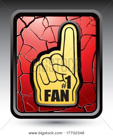 fan hand on red cracked web button