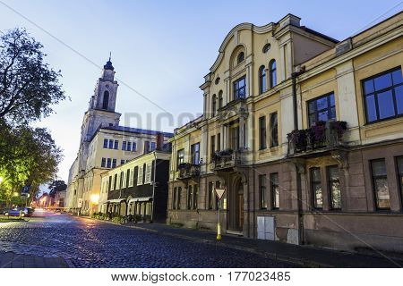 Church of St. Francis Xavier in Kaunas. Kaunas Lithuania.