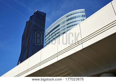 Modern Vienna City Architecture In The Uno City Complex.