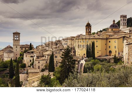 Architecture of Assisi, Italy. Assisi Umbria Italy