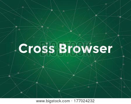 cross browser technology terms in website development vector