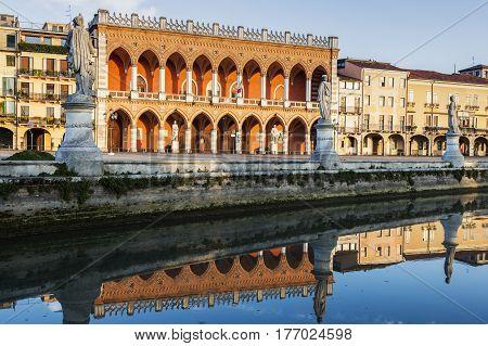 Prato della Valle in Padua. Padua Veneto Italy.