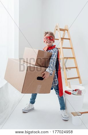 Superhero Doing Home Renovation
