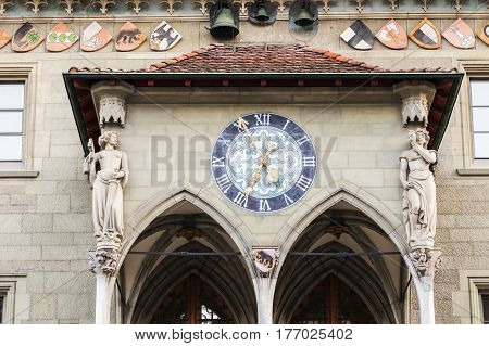 Rathaus in the center of Bern. Bern Bern-Mittelland Switzerland.