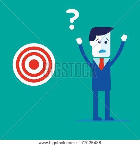 Businessman concept find target vector eps 10