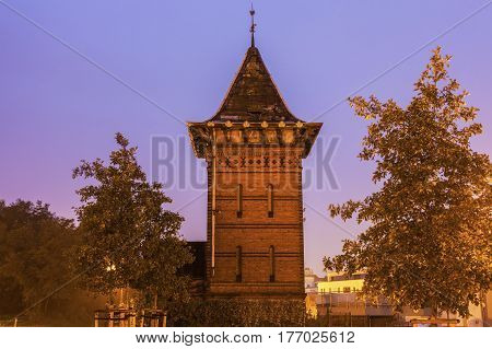 Old Tower in Magdeburg. Magdeburg Lower Saxony Germany.