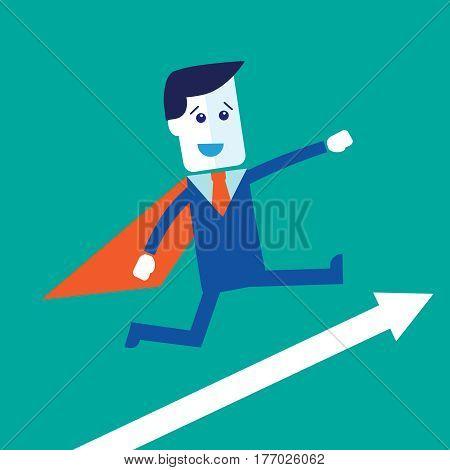 Businessman or manager like a superman. i