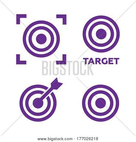 Target icons set illustration. Target black logo. Target icons sign