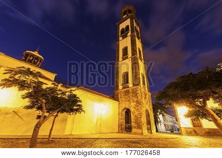 Church of the Conception in Santa Cruz de Tenerife. Santa Cruz de Tenerife Tenerife Spain.