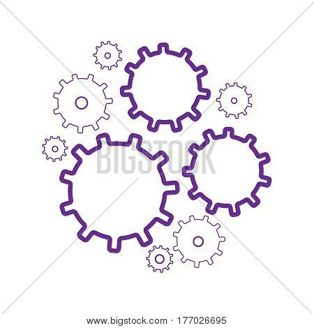 Gear wheels vector icons set. Gear wheel machine gear wheel engineering gear wheel
