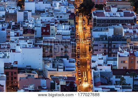 Panorama of Santa Cruz de Tenerife. Santa Cruz de Tenerife Tenerife Spain.