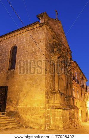 Misericordia Church in Braga at dawn. Braga Norte Region Portugal.