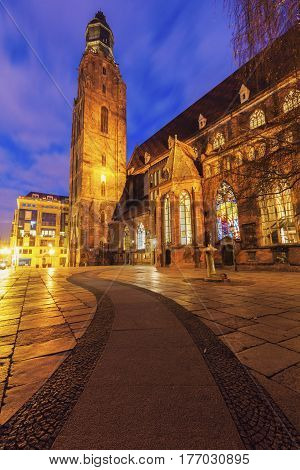 St. Elisabeth's Church in Wroclaw. Wroclaw Lower Silesian Poland. Wroclaw Lower Silesian Poland.