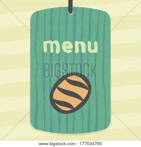 Vector outline white bread loaf food icon on label with hand drawn striped background. Elements for mobile concepts and web apps. Modern infographic logo and pictogram.