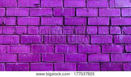 Brickwork, brick, violet brick wall, rough brick wall, violet brick, brick wall