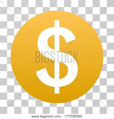 Dollar Coin icon. Vector illustration style is flat iconic symbol with gradients, transparent background. Designed for web and software interfaces.