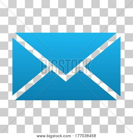 Envelope icon. Vector illustration style is flat iconic symbol with gradients, transparent background. Designed for web and software interfaces.