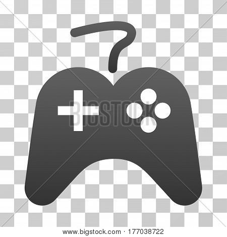 Gamepad icon. Vector illustration style is flat iconic symbol with gradients, transparent background. Designed for web and software interfaces.