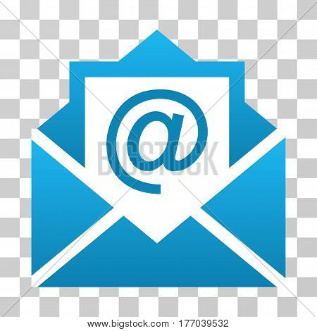 Open Mail icon. Vector illustration style is flat iconic symbol with gradients, transparent background. Designed for web and software interfaces.