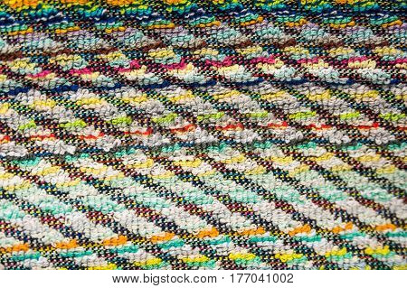 Abstract multicolor textile pattern with geometric background