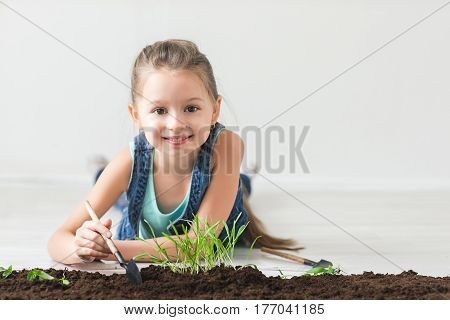 Earth day concept, young girl and escape.