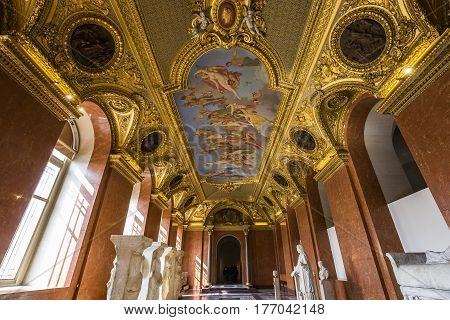 Anne Of Austria Apartments, The Louvre, Paris, France