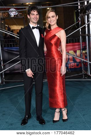 LOS ANGELES - MAR 08:  Brie Larson and Alex Greenwald arrives for the