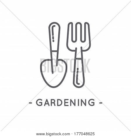 Line Black Gardening Icon Set