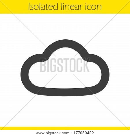 Cloud linear icon. Thick line illustration. Cloud computing contour symbol. Vector isolated outline drawing