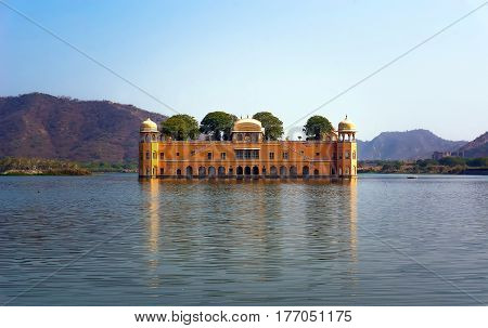 Water Palace Was Built During The 18Th Century In The Middle Of Man Sager Lake.