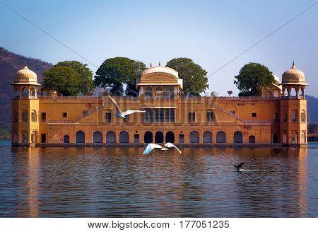 Jal Mahal Is A Palace On Man Sagar Lake, Jaipur, India