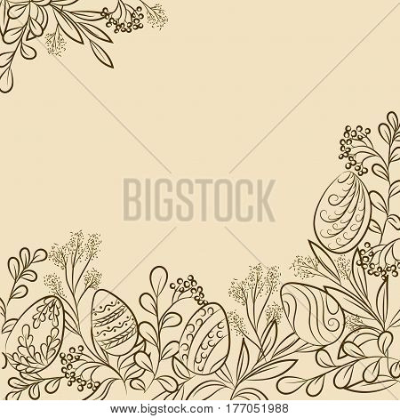 Easter Plants Frame