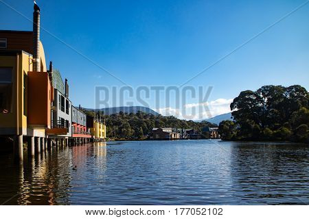 Lake Crackenback on an autumn morning in New South Wales, Australia
