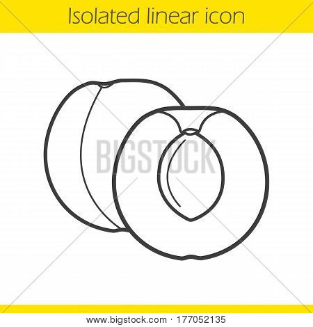 Apricot linear icon. Thin line illustration. Contour symbol. Vector isolated outline drawing