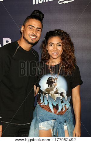 LOS ANGELES - MAR 14:  Quincy Brown, Paige Hurd at the Honda Stage An Exclusive Evening with STAR at iHeart Theater on March 14, 2017 in Burbank, CA