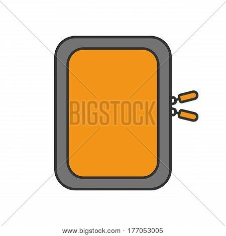 Gadget protective case color icon. Isolated vector illustration