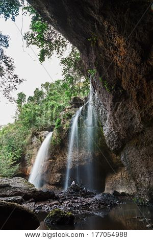 Waterfall Haew suwat Khao Yai National Parks Thailand