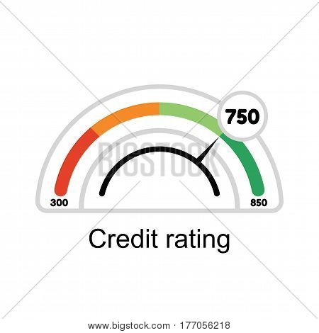 Illustration manometer on white background. Credit Score rating.