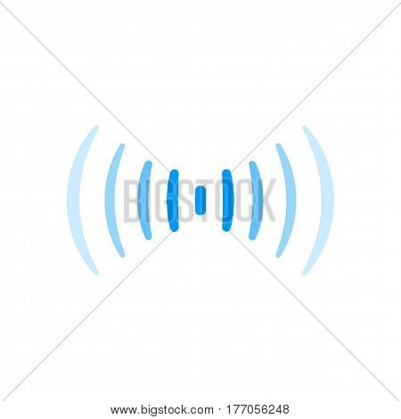 wifi signal, wireless connection, sound or radio wave logo symbol. thin lines network