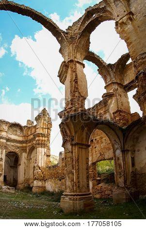 Ruins of Convento de Monjes Servitas, Teruel, Aragon, Spain